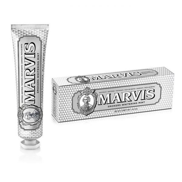 MARVIS <br> DENTIFRICIO <br> SMOKERS WHITENING MINT