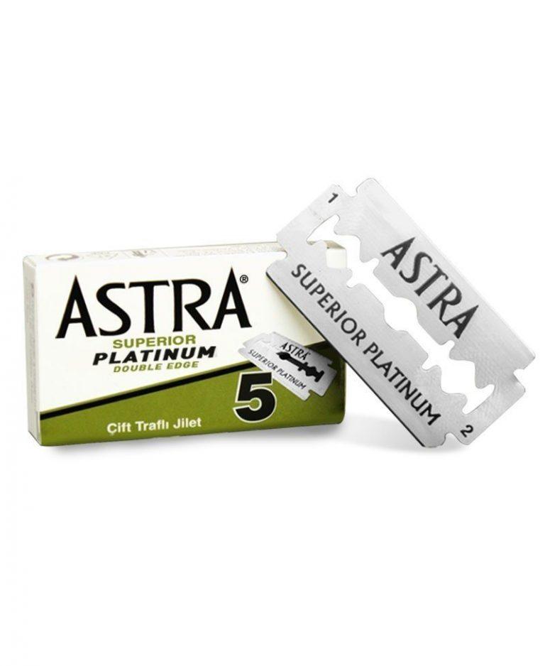 ASTRA – SUPERIOR PLATINUM LAMA DA BARBA - Confezione da 5 lame