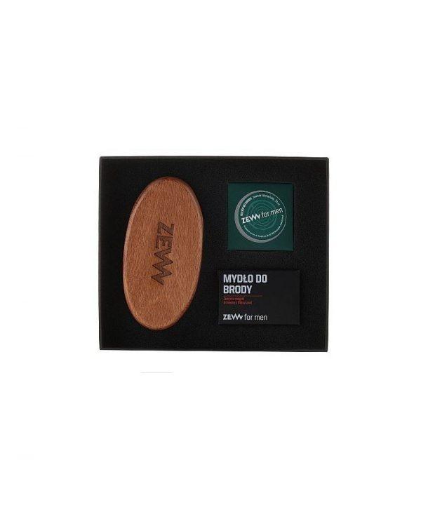 ZEW SET BARBA DEL TAGLIALEGNA – Beard soap + Beard Oil + beard brush