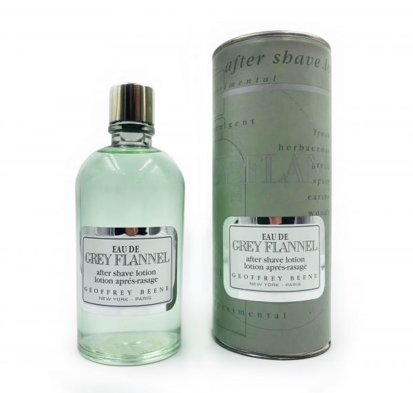 GEOFFREY BEENE <br> EAU DE GREY FLANNEL <br> AFTER SHAVE LOTION