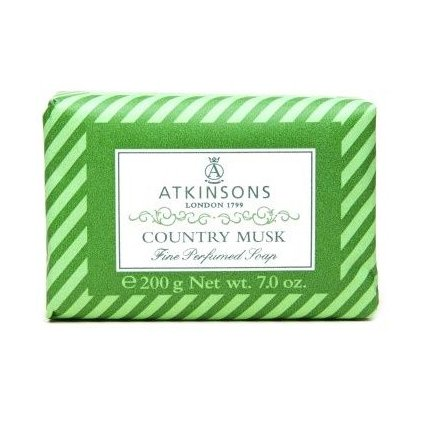 ATKINSONS <br> FINE PERFUMED SOAPS <br> COUNTRY MUSK