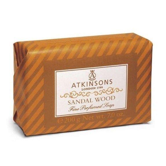 ATKINSONS <br> FINE PERFUMED SOAPS <br> SANDAL WOOD