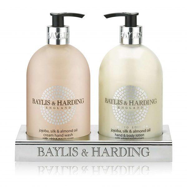 BAYLIS & HARDING <br> JOJOBA, SILK & <br> ALMOND OIL