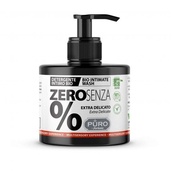 PURO <br> DETERGENTE INTIMO BIO <br> ZERO SENZA%